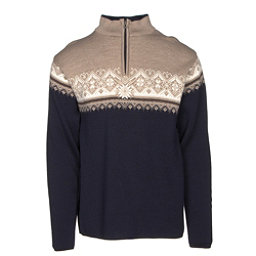 Dale Of Norway St Moritz Masculine Mens Sweater, Navy-Beige-Bronze Melange-Off, 256
