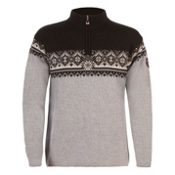 Dale Of Norway St Moritz Masculine Mens Sweater, Metal Grey-Schiefer-Black-Off, medium