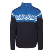 Dale Of Norway St Moritz Masculine Mens Sweater, Navy-Sochi Blue-Cobalt-Off Whi, medium