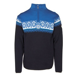 Dale Of Norway St Moritz Masculine Mens Sweater, Navy-Sochi Blue-Cobalt-Off Whi, 256