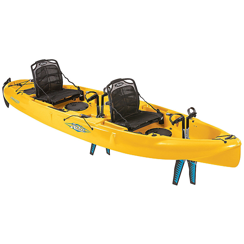Hobie mirage outfitter tandem kayak 2016 ebay for Used fishing kayaks for sale