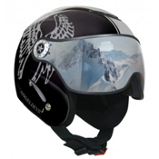 OSBE Proton Angel Devil Collection Helmet, Metal Black-Silver Glitter, medium