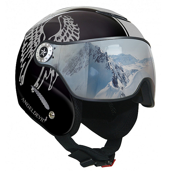 OSBE Proton Angel Devil Collection Helmet, Metal Black-Silver Glitter, 600