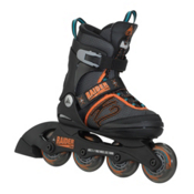 K2 Raider Pro Adjustable Kids Inline Skates, Black-Orange, medium