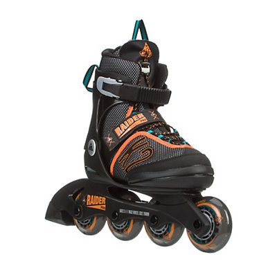 K2 Raider Pro Adjustable Kids Inline Skates, Black-Orange, viewer