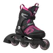 K2 Marlee Pro Adjustable Girls Inline Skates 2016, Black-Pink, medium