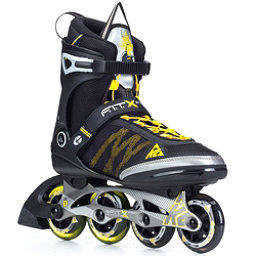 K2 FIT X Pro Inline Skates, Gunmetal-Yellow, 256