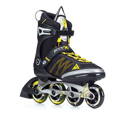 K2 FIT X Pro Inline Skates, Gunmetal-Yellow, viewer