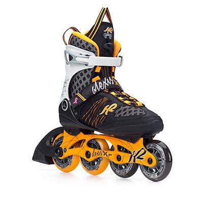 K2 Alexis X Pro Womens Inline Skates, Tangerine-Black, viewer