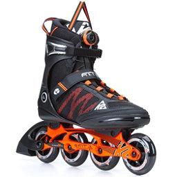 K2 F.I.T. 84 Boa Inline Skates, Black-Orange, 256