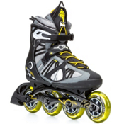 K2 VO2 90 Pro Inline Skates, Gunmetal-Yellow, medium