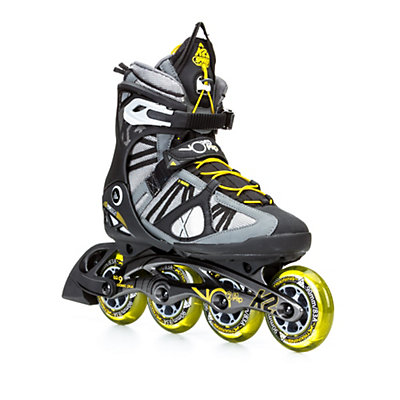 K2 VO2 90 Pro Inline Skates, Gunmetal-Yellow, viewer