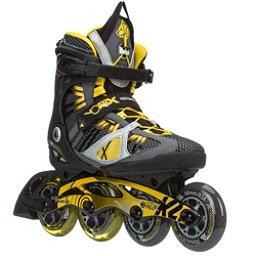 K2 VO2 100 X Pro Inline Skates, Black-Yellow, 256