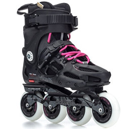 Rollerblade Twister 80 Womens Urban Inline Skates, Black-Fuschia, 256