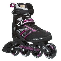 Rollerblade Zetrablade Womens Inline Skates, Black-Pink, 256