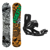 Firefly Obsession Stealth 3 Snowboard and Binding Package, , medium