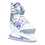 Bladerunner Micro XT Girls Ice Skates, White-Purple, medium