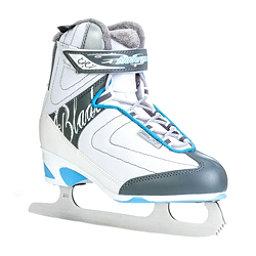 Bladerunner Vela XT Womens Figure Ice Skates, White-Light Blue, 256