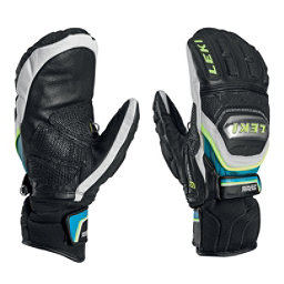 Leki World Cup Race Titanium S Ski Racing Mittens, Black-White-Cyan-Yellow, 256