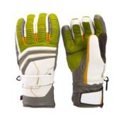 Leki Aspen Retro S Gloves, Lime-White-Graphite-Corn, medium