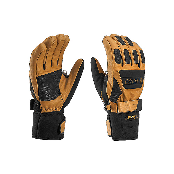 Leki Elements Krypton S Gloves, Tan-Black, 600