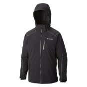 Columbia Millenium Burner Mens Insulated Ski Jacket, Black-Graphite Pop, medium