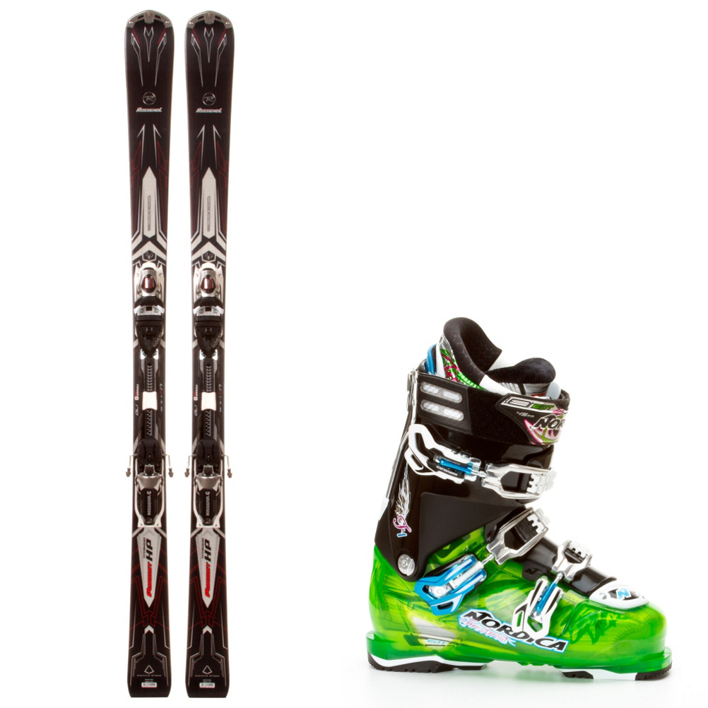 Rossignol Pursuit HP Ti and Nordica FireArrow F1 Ski Package