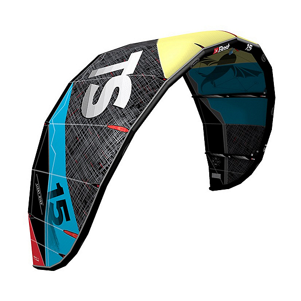 Best TS V4 Light Wind Kiteboarding Kite, Lemon-Ocean, 600
