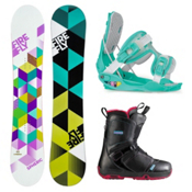 Firefly Spheric and Pearl Womens Complete Snowboard Package, , medium