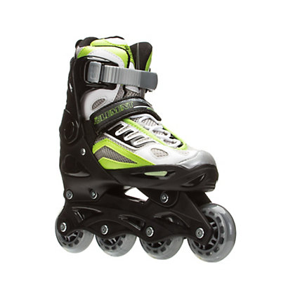 5th Element B2-100 Adjustable Boys Skates with Pads, Black-Green, viewer
