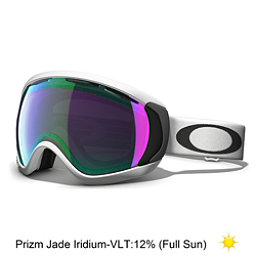 Oakley Canopy Prizm Goggles 2017, Matte White-Prizm Jade Iridium, 256