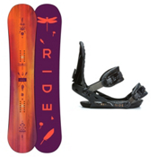 Ride Baretta and VXN Womens Snowboard and Binding Package 2015, 148cm, medium