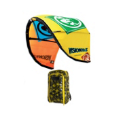 RRD Vision MKIII Kiteboarding Kite, Yellow-Orange, medium