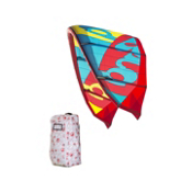 RRD Obsession MKVII Kiteboarding Kite, Cyan-Red-Yellow, medium