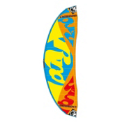 RRD Obsession MKVII Kiteboarding Kite, Yellow-Cyan-Orange-Red, medium