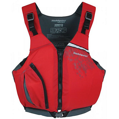 Stohlquist Escape Adult Kayak Life Jacket, Red, viewer