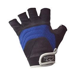 Stohlquist Barnacle 1/2 Finger Paddling Gloves, Black-Blue, 256