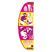 RRD Religion MKV Kiteboarding Kite, Pink-Purple-Yellow, medium