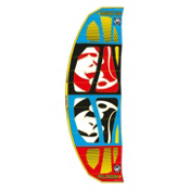 RRD Religion MKV Kiteboarding Kite, Cyan-Black-Red-Yellow, medium