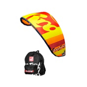 RRD Emotion MKI Kiteboarding Kite, Yellow-Orange, medium