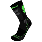 Rollerblade High Performance Socks 2017, Black-Green, medium