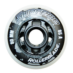 Rollerblade Supreme 80mm 85A Inline Skate Wheels - 8 Pack 2017, , 256