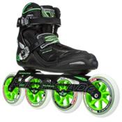 Rollerblade Tempest 110 C Inline Skates, Black-Green, medium