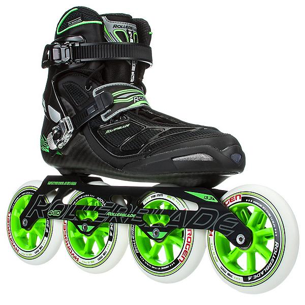 Rollerblade Tempest 110 C Inline Skates, Black-Green, 600