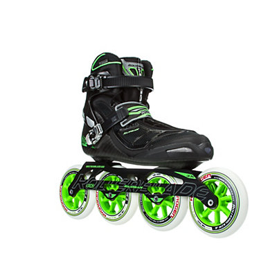 Rollerblade Tempest 110 C Inline Skates, Black-Green, viewer