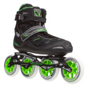 Rollerblade Tempest 100 C Inline Skates, Black-Green, medium