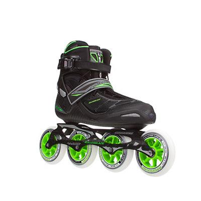 Rollerblade Tempest 100 C Inline Skates, Black-Green, viewer