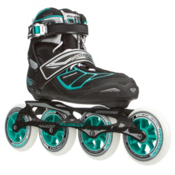 Rollerblade Tempest 100 C Womens Inline Skates, Black-Light Blue, medium