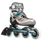 Rollerblade Tempest 90 C Womens Inline Skates, Silver-Light Blue, medium