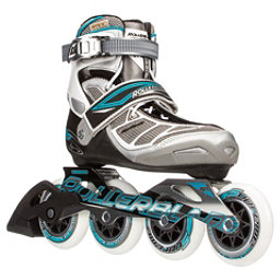 Rollerblade Tempest 90 C Womens Inline Skates, Silver-Light Blue, 256